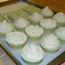 Springtime Soap Cupcakes with Goat Milk Frosting